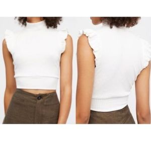 Free People The Betsey Crop - Ivory